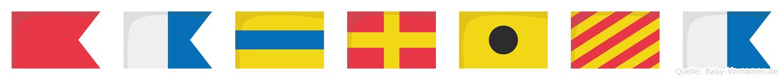 Badriya im Flaggenalphabet