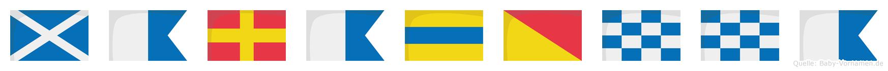 Maradonna im Flaggenalphabet