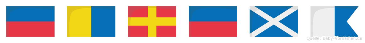 Ekrema im Flaggenalphabet