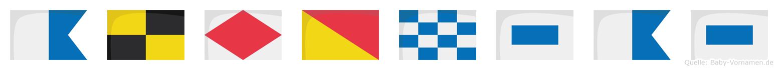 Alfonsas im Flaggenalphabet