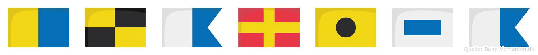 Klarisa im Flaggenalphabet