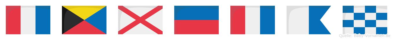 Tzvetan im Flaggenalphabet