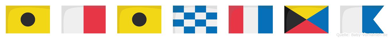 Ihintza im Flaggenalphabet