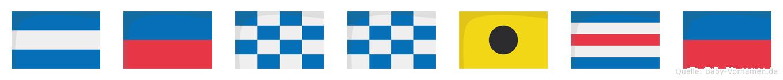 Jennice im Flaggenalphabet