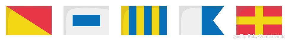 Osgar im Flaggenalphabet