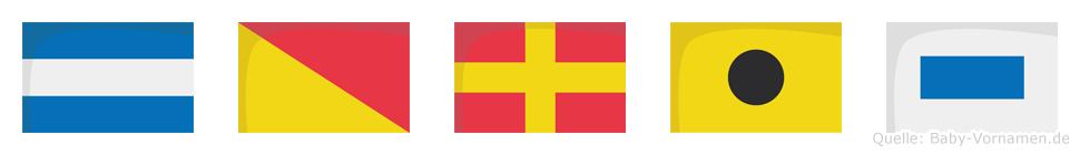 Joris im Flaggenalphabet