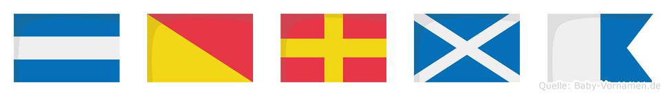 Jorma im Flaggenalphabet