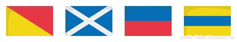 Omed im Flaggenalphabet