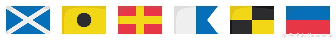 Mirale im Flaggenalphabet