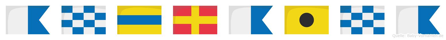 Andraina im Flaggenalphabet