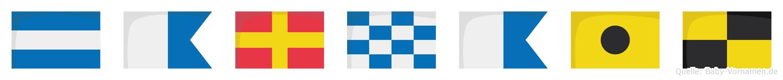 Jarnail im Flaggenalphabet