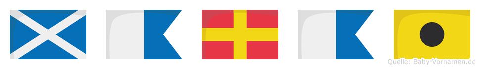 Marai im Flaggenalphabet