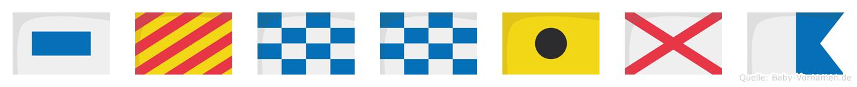 Synniva im Flaggenalphabet