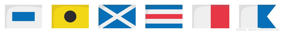 Simcha im Flaggenalphabet