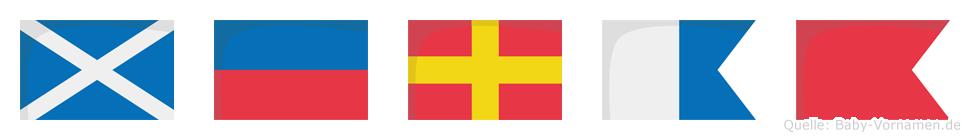 Merab im Flaggenalphabet