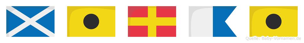 Mirai im Flaggenalphabet