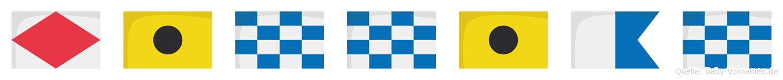 Finnian im Flaggenalphabet