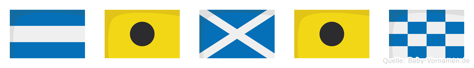 Jimin im Flaggenalphabet