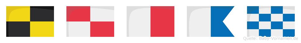 Luhan im Flaggenalphabet