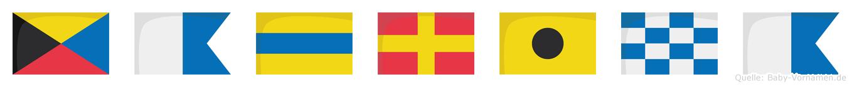 Zadrina im Flaggenalphabet