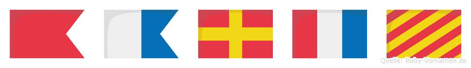 Barty im Flaggenalphabet