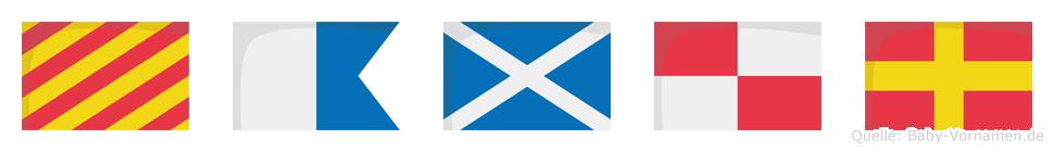 Yamur im Flaggenalphabet