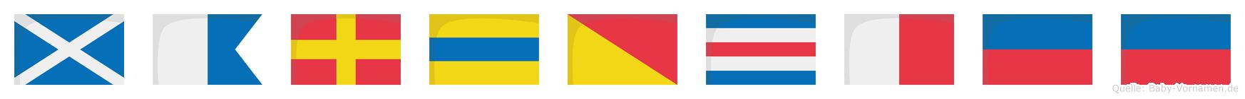 Mardochee im Flaggenalphabet