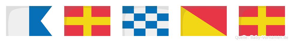 Arnor im Flaggenalphabet