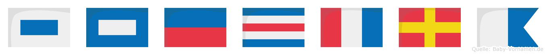 Spectra im Flaggenalphabet