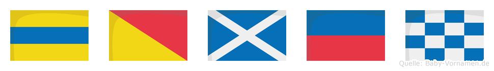 Domen im Flaggenalphabet