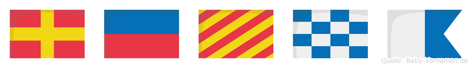 Reyna im Flaggenalphabet