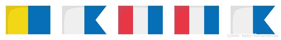 Katta im Flaggenalphabet