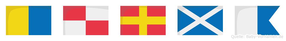 Kurma im Flaggenalphabet