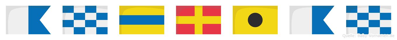 Andrian im Flaggenalphabet