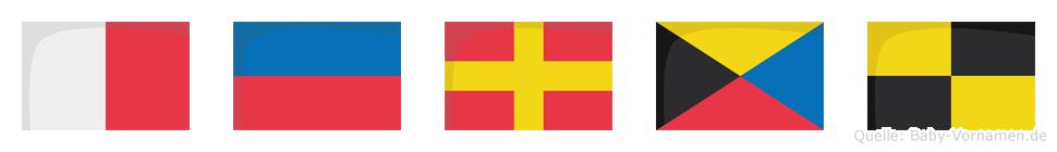 Herzl im Flaggenalphabet