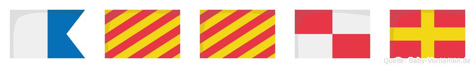 Ayyur im Flaggenalphabet
