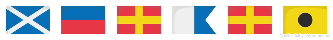 Merari im Flaggenalphabet