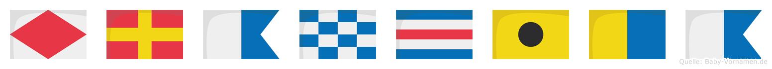 Francika im Flaggenalphabet