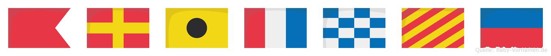 Britnye im Flaggenalphabet