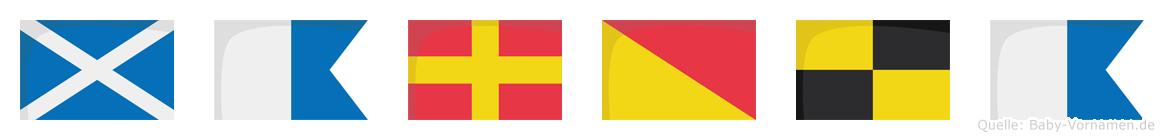 Marola im Flaggenalphabet