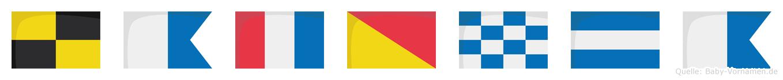 Latonja im Flaggenalphabet