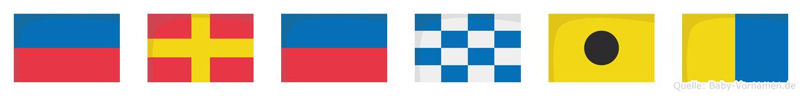 Erenik im Flaggenalphabet