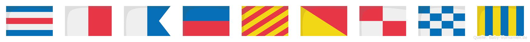 Chaeyoung im Flaggenalphabet