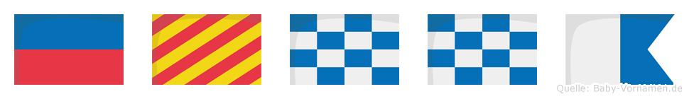 Eynna im Flaggenalphabet