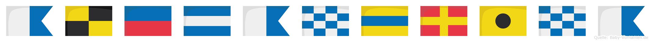 Alejandrina im Flaggenalphabet