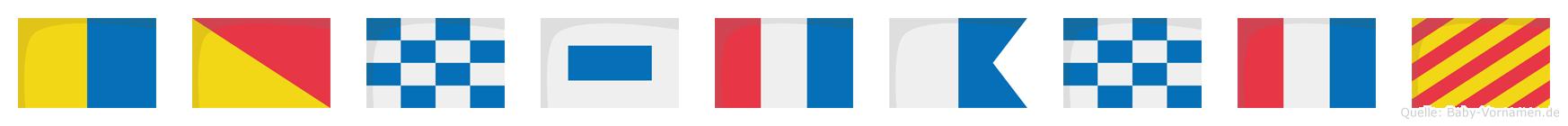 Konstanty im Flaggenalphabet