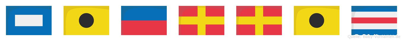 Pierric im Flaggenalphabet