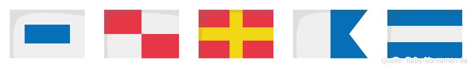 Suraj im Flaggenalphabet