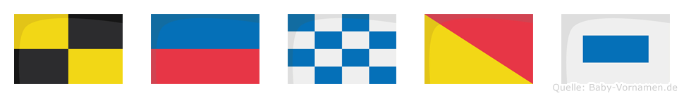 Lenos im Flaggenalphabet