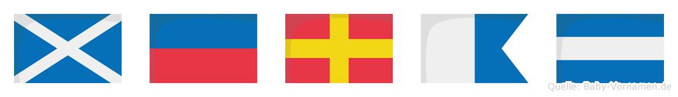 Meraj im Flaggenalphabet